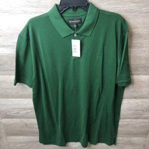 Allen Edmonds Sz XL Green Short Sleeve Polo Shirt